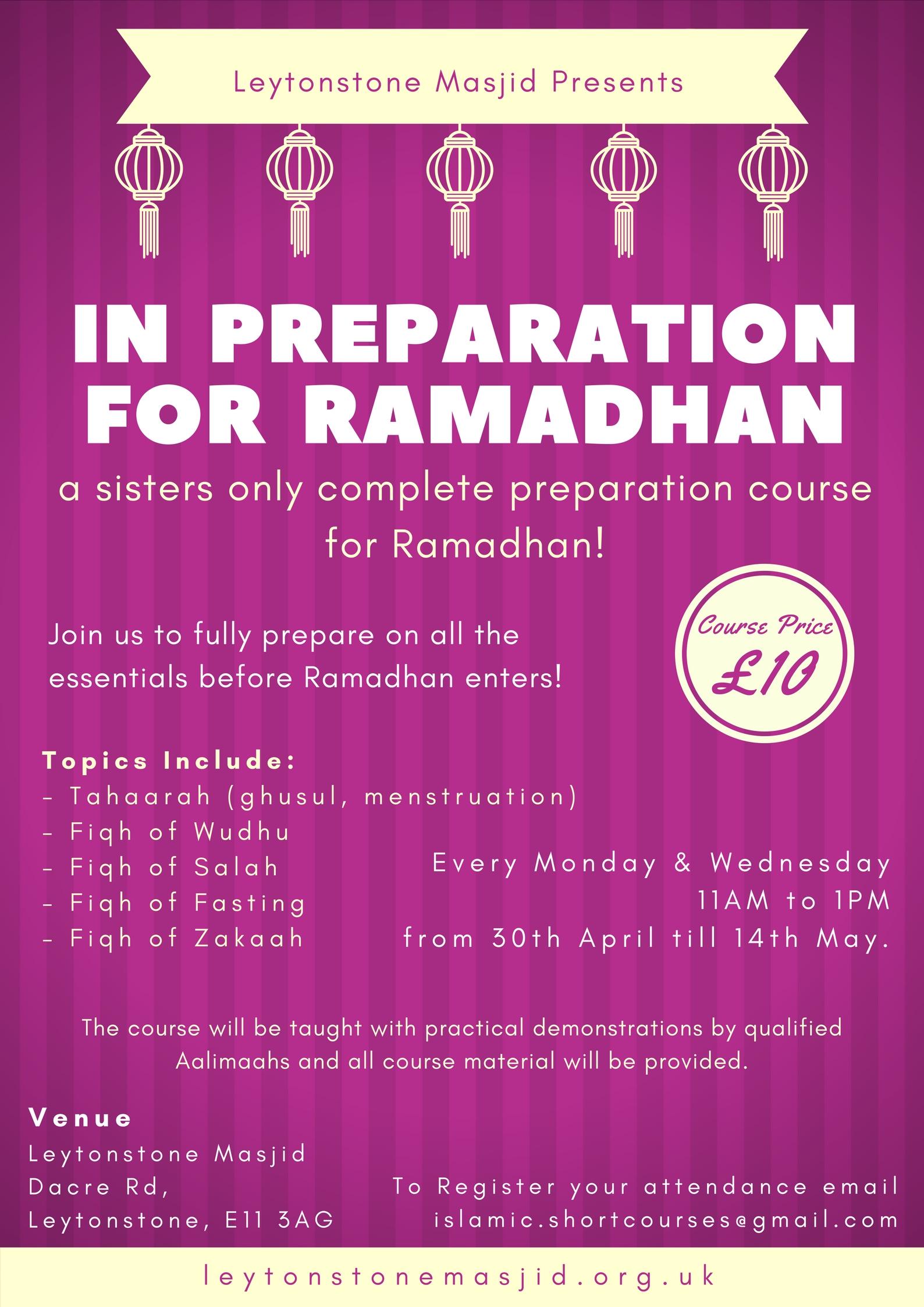 Ramadhan Prep for Sisters